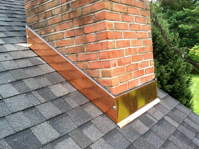 Copper Chimney Flashing Repair