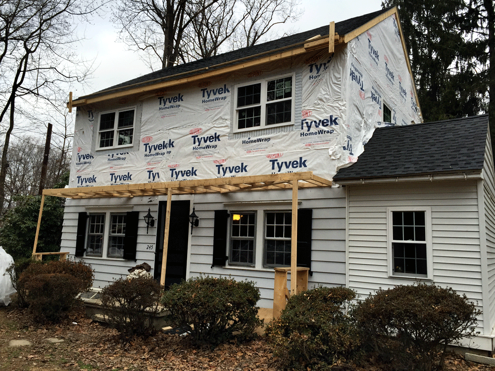 GAF HD LifeTime Timberline Shingles, James Hardie Siding/Trim, InvisiVent CertainTeed Soffit & Seamless Gutters Installation, Media PA 19063