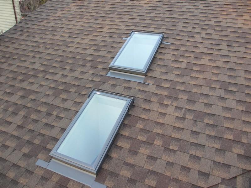 New Shingle Roofing & Velux Skylights Installation